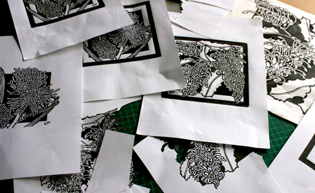 Designing – Redesigning and 'Re-tweeking' Linocut Designs