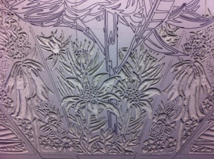13 Blue Mtns Wildflowers CARVING Linoblock Detail 1