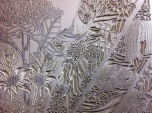 14 Blue Mtns Wildflowers CARVING Linoblock Detail 2