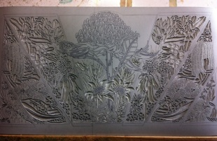 15 Blue Mtns Wildflowers CARVING Linoblock 2