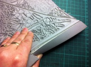 Cutting back edges of linoblock 1
