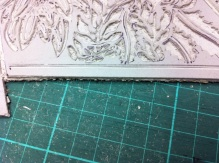 Cleaning back edges of linoblock 1