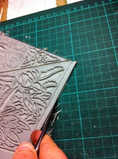 33 Blue Mtns Wildlflowers Lino - cutting edges 9