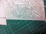 Cleaning back edges of linoblock