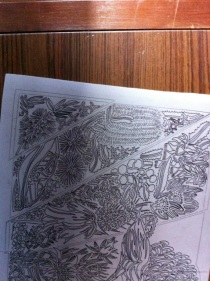 9 Blue Mtns Wildflowers CARVING Linoblock Warming 1
