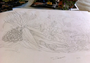 Seaside Wildflowers Drawing 4