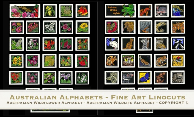 Australian Alphabets – Fine Art Linocuts Tutorial Video
