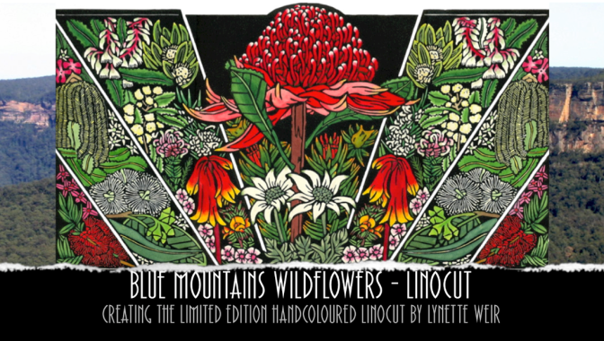 Blue Mountains Wildflowers – Fine Art Linocut Tutorial Video