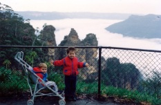 Blue Mountains Trip with 2 of our sons1992