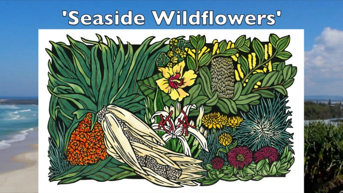 Seaside Wildflowers – Fine Art Linocut Tutorial Video
