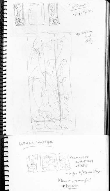 SKETCHBOOK - Flannel Flower & Waratah Trytiches WEB