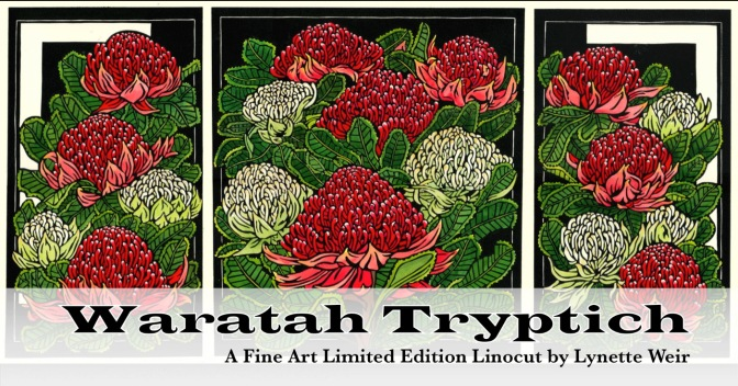 Waratah Tryptich – Fine Art Linocut Tutorial Video